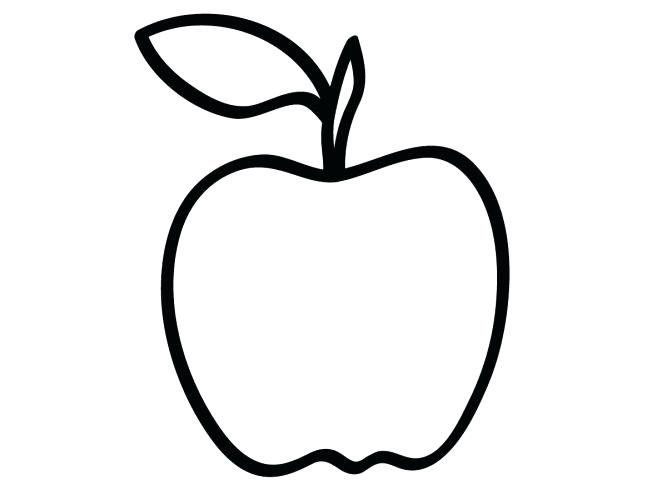 667x500 Apple Coloring Pages For Kindergarten Medium Size Of Fruit