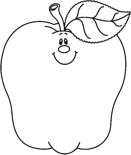 433x512 Apple Coloring Pages For Preschoolers Free