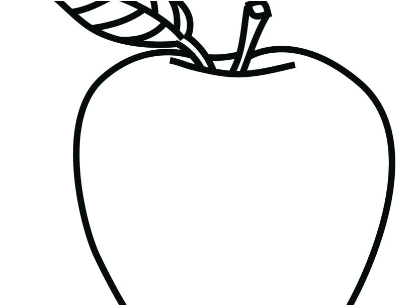 Apple Coloring Pages For Kids At Getdrawings Com Free For