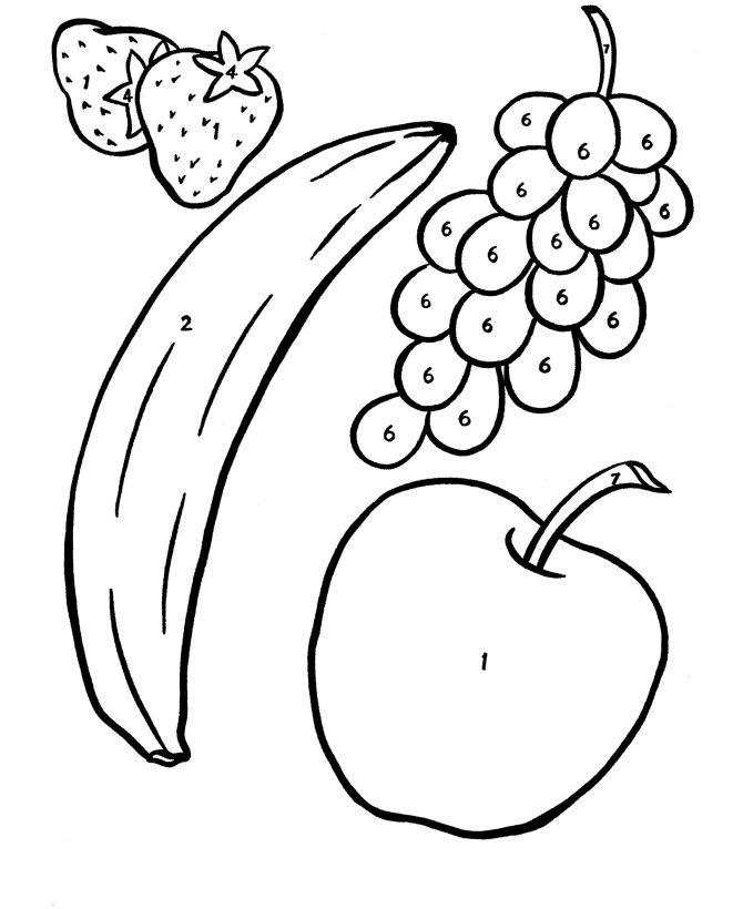 670x820 Grand Fruits Coloring Worksheets For Kindergarten Fruit Pages
