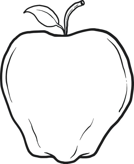 570x700 Apple Coloring Page Coloring Pages Apple Apple Coloring Page Apple
