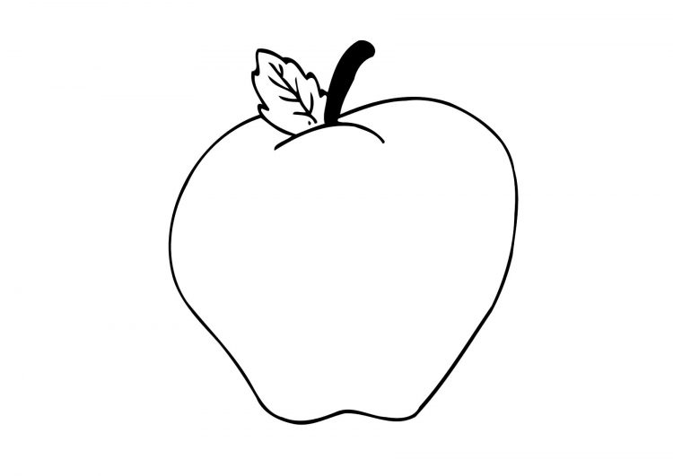 Apple Core Coloring Page