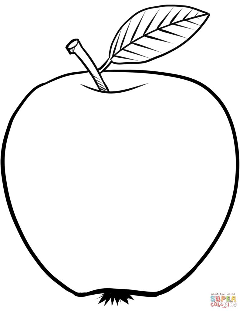 791x1024 Apple Coloring Sheet