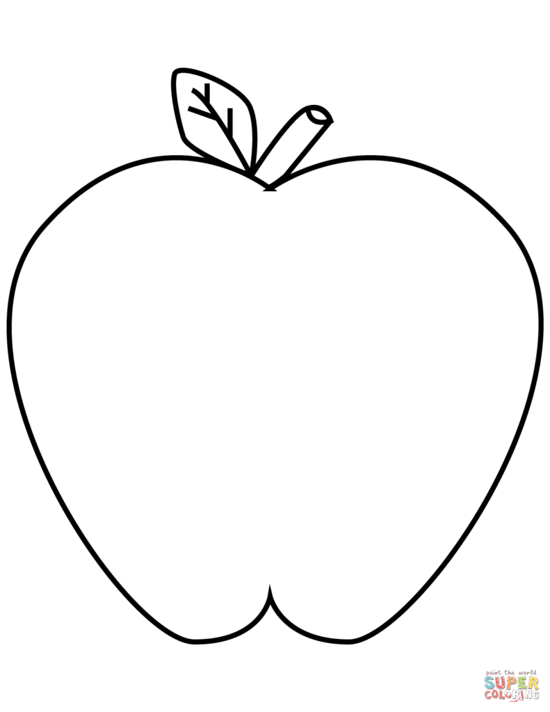 791x1024 Apple Coloring Sheet Apples Pages Free Green Get Bubbles