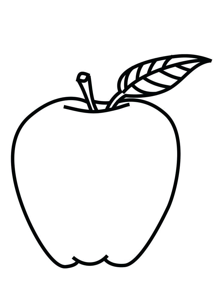 732x1024 Apple Outline Clip Art Color Pages Drawing Pics Of Coloring Lemonize