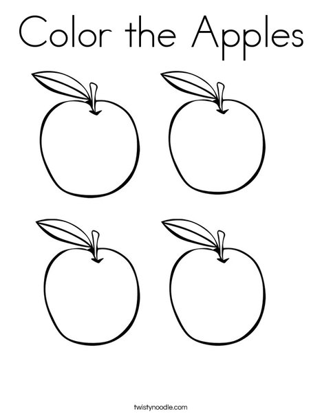 468x605 Color The Apples Coloring Page