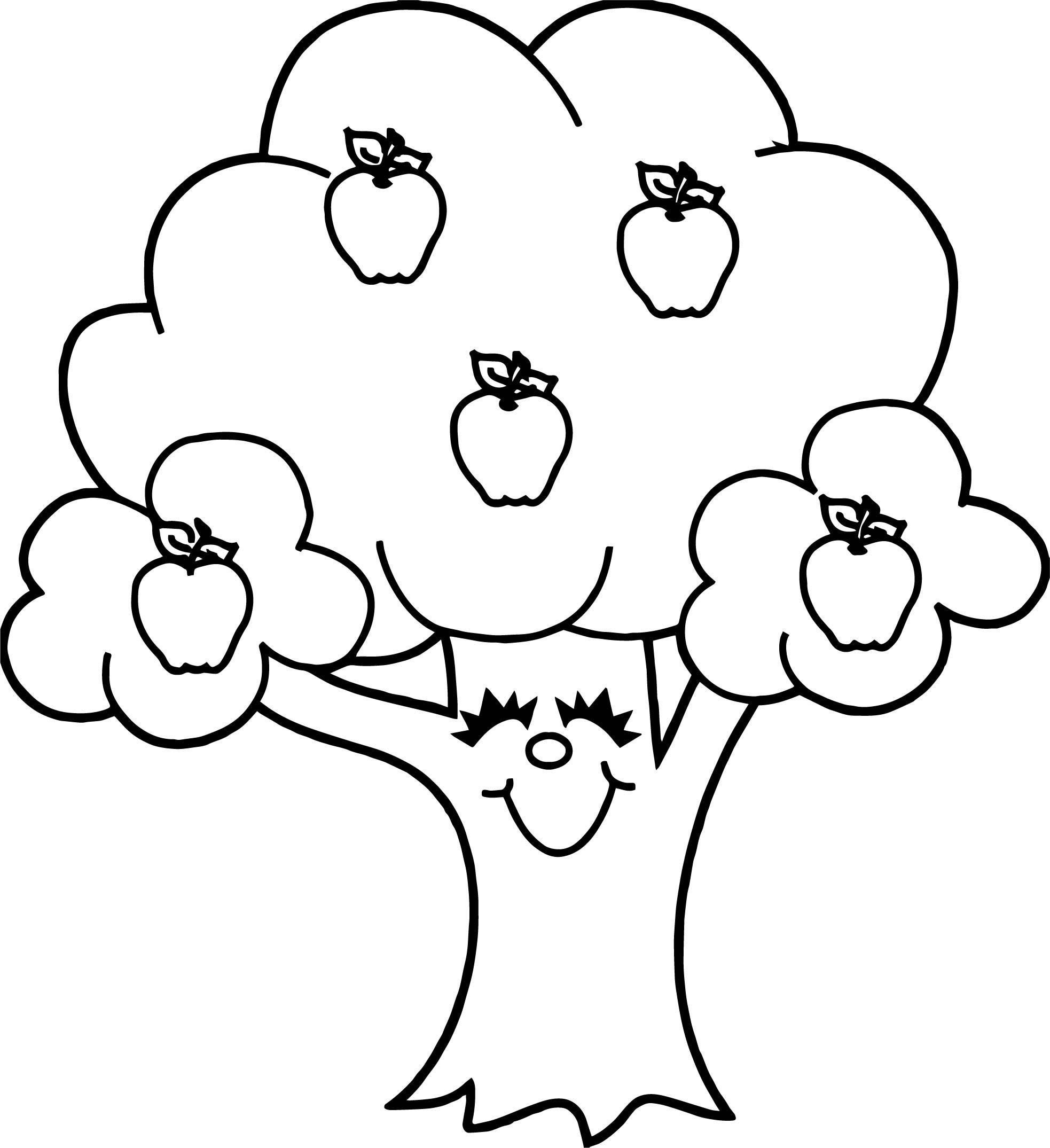 1966x2149 Coloring Page Apple Tree Coloring Sheets