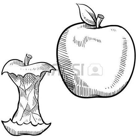 450x450 Drawn Apple Apple Core Many Interesting Cliparts