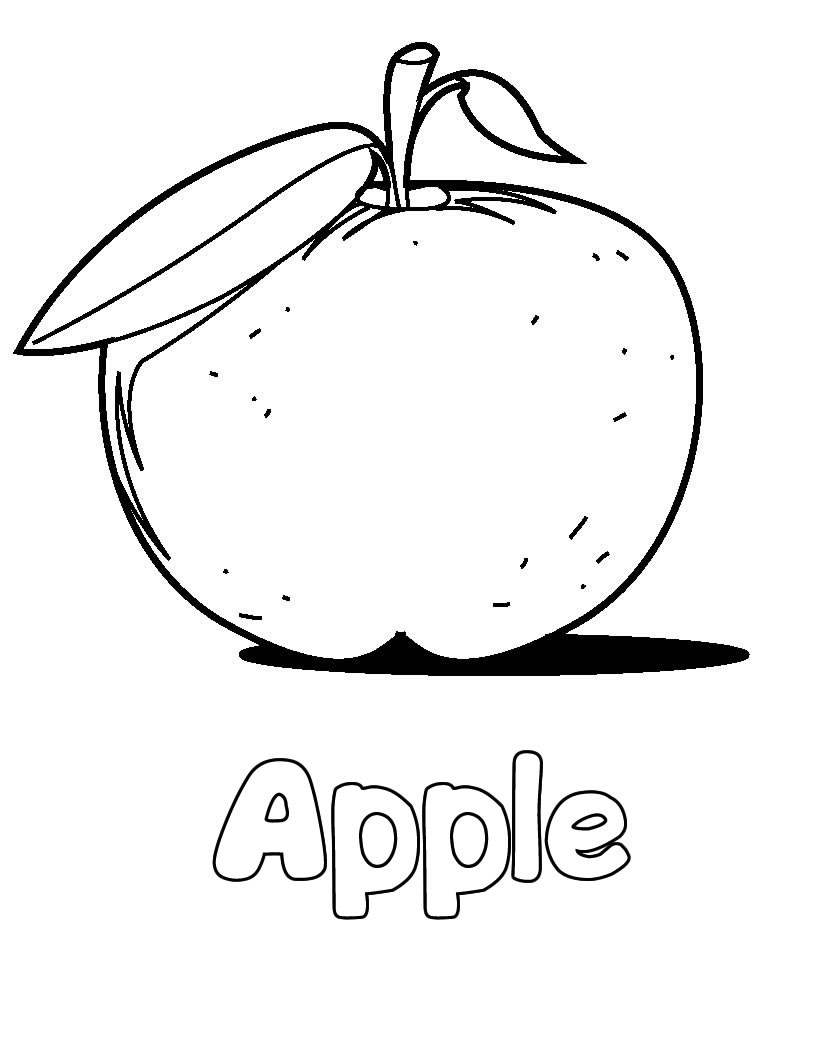 820x1060 Free Printable Apple Coloring Pages For Kids