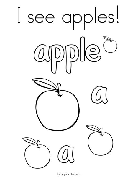 468x605 I See Apples Coloring Page