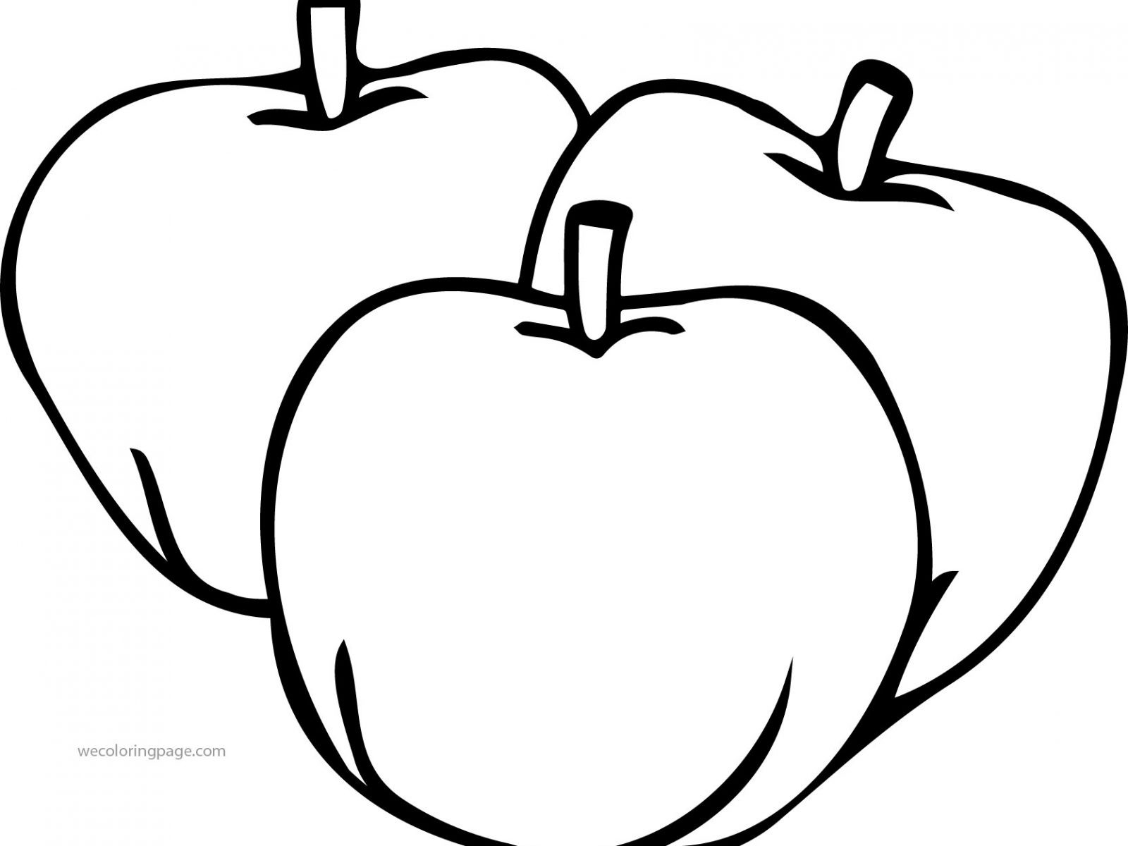 1600x1200 Picture Of An Apple To Color