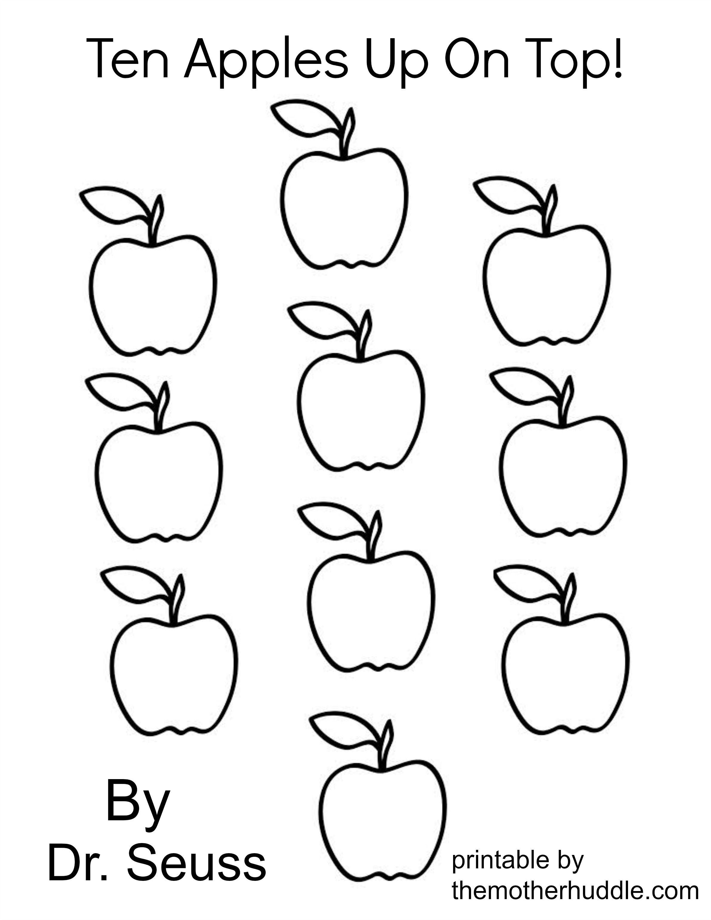 2382x3082 Ten Apples Up On Top Coloring Pages