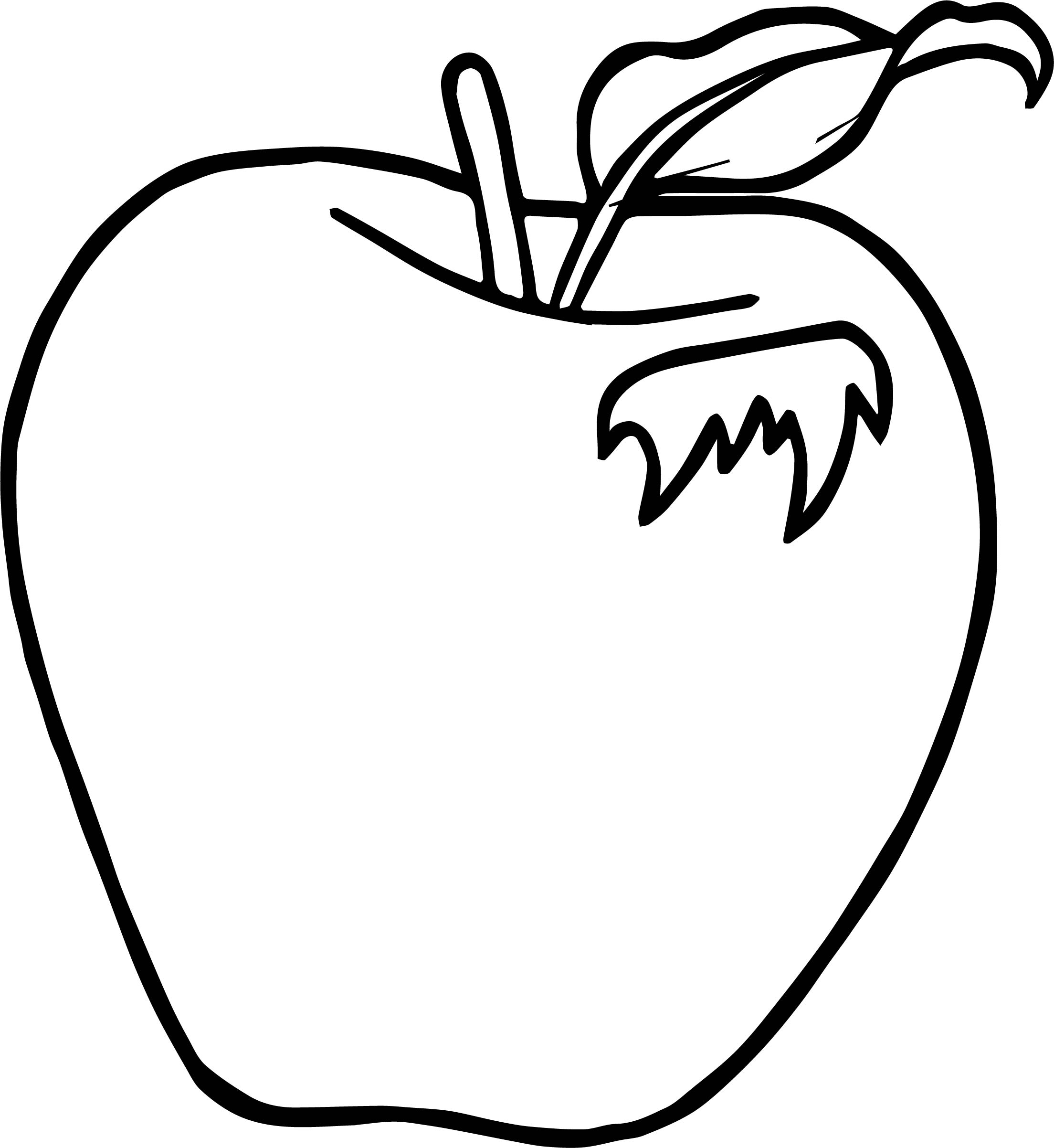 2208x2404 Apple Clipart Colouring Page Pencil And Letter Free Coloring Pages