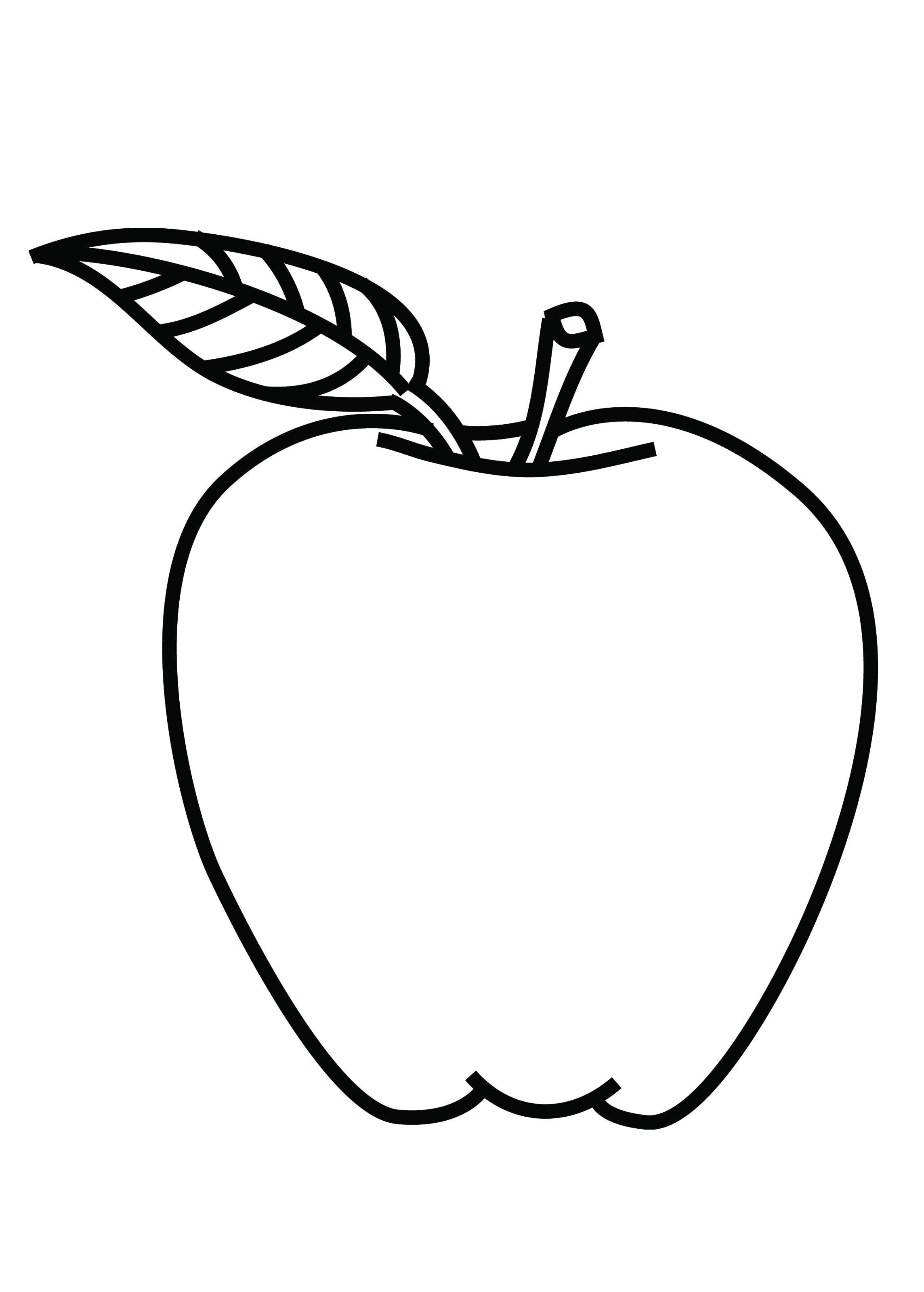 2288x3198 Apple Coloring Sheet