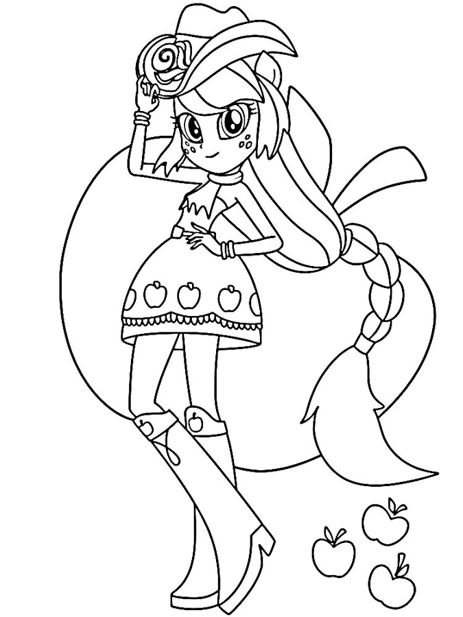 Apple Jack Coloring Pages