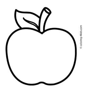 Apple Logo Coloring Pages