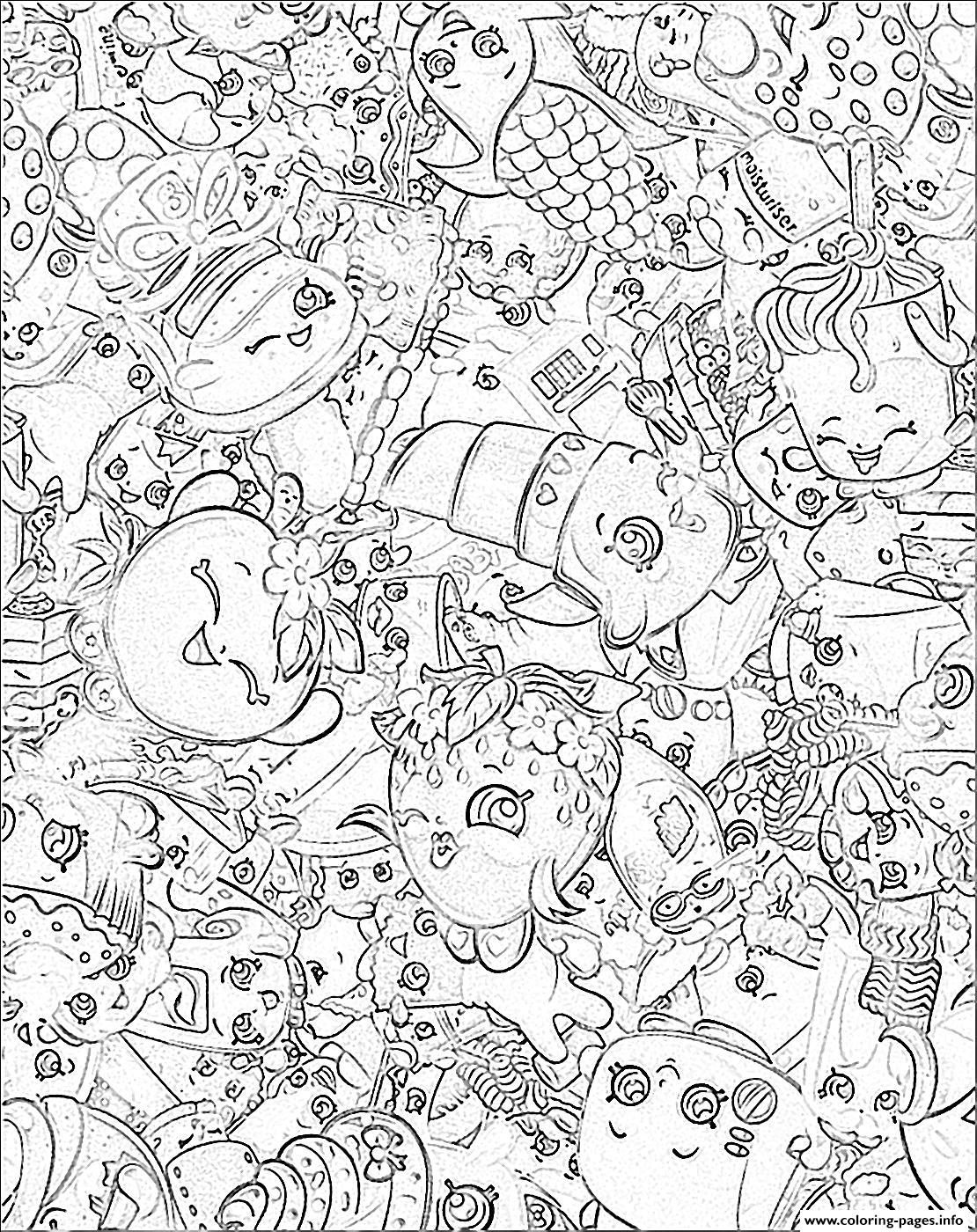 1110x1400 Print Official Shopkins Girls Skater Dress Logo Coloring Pages