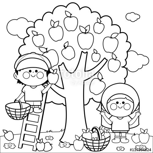 Apple Orchard Coloring Pages