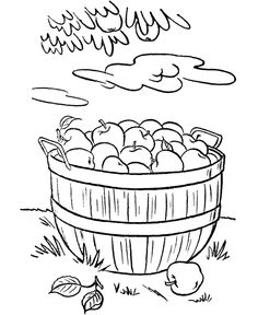236x288 Activity Village A Fall Apple Orchard Coloring Sheet