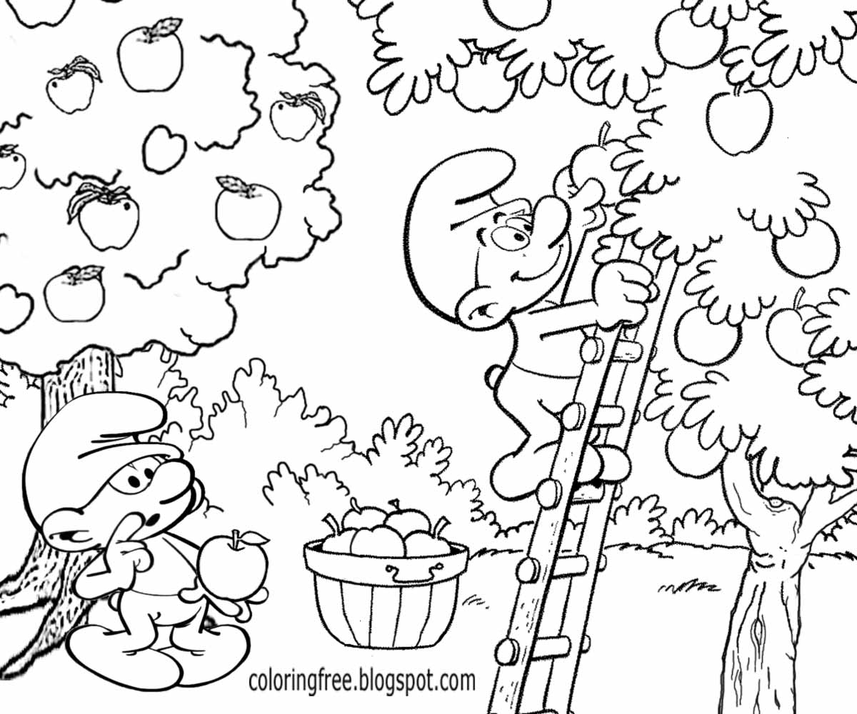 1200x1000 Apple Picking Coloring Pages Collection Coloring For Kids