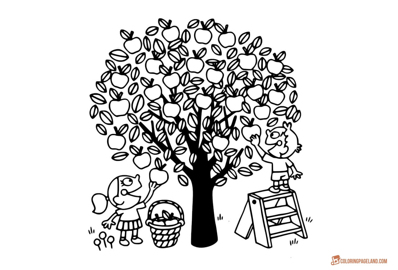 1280x870 Apple Tree Coloring Pages