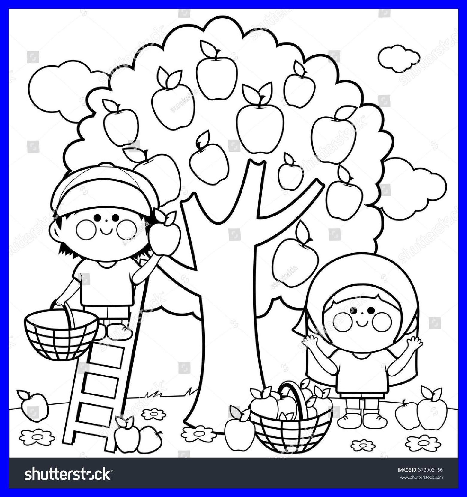 1558x1658 Best Apple Picking Coloring Page Sheets For Popular And Trend