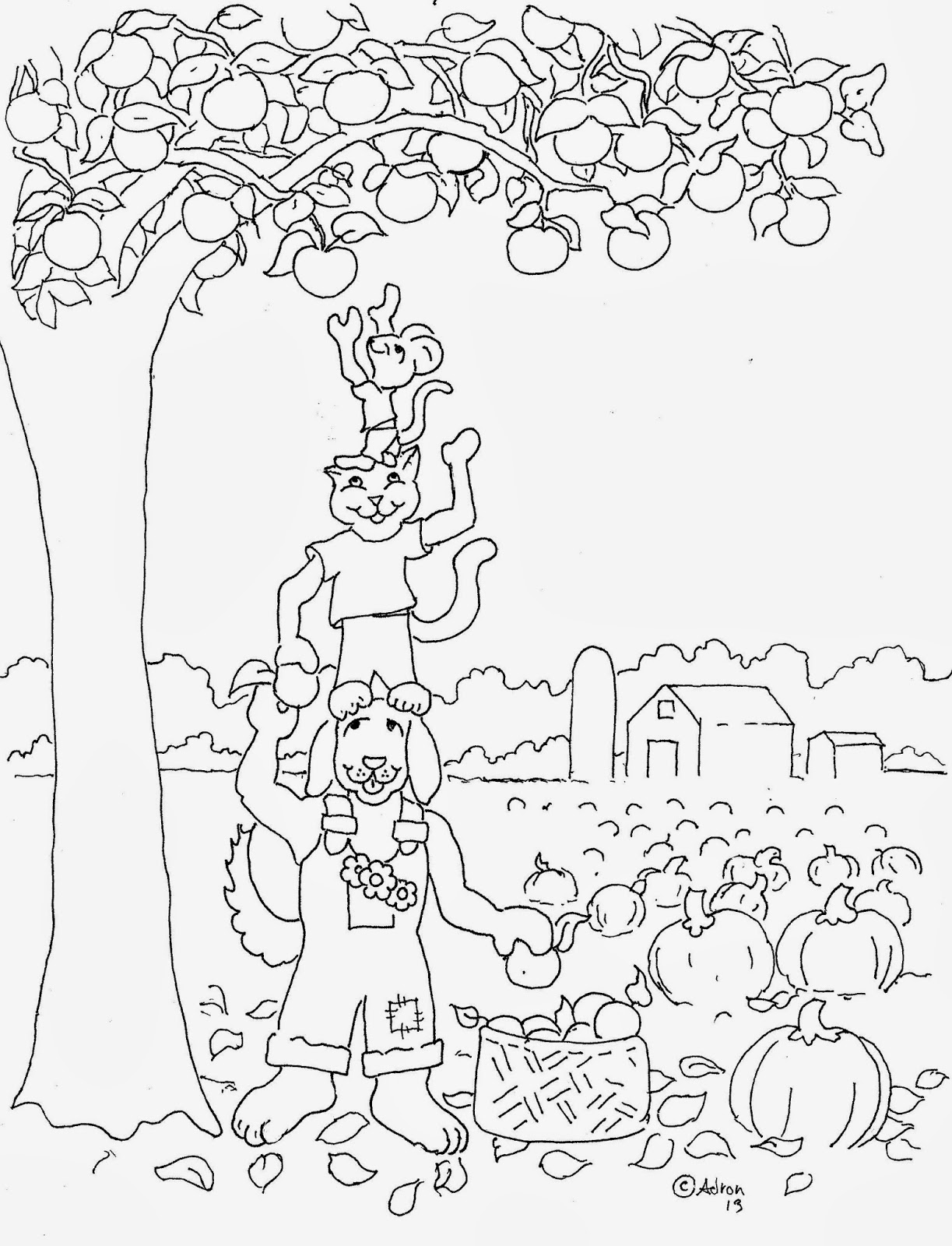 1223x1600 Harvest Coloring Pages
