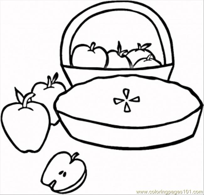 650x621 Dessert Coloring Pages