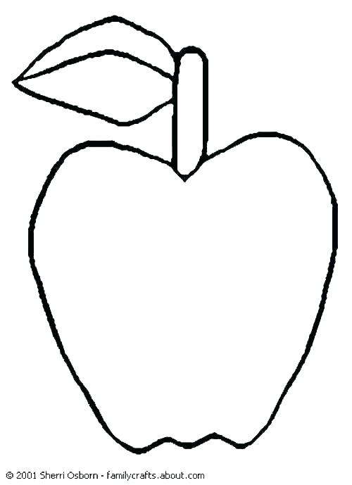 500x689 Apple Coloring Coloring Pages Apple Free Printable Apple Coloring