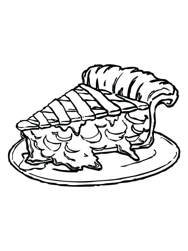 600x800 Pie Coloring Page Apple Pie Slice Of Tasty Apple Pie Coloring