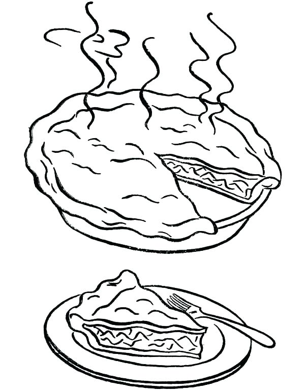 600x772 Pie Coloring Page Pie Coloring Page A Warm Piece Of The Apple Pie