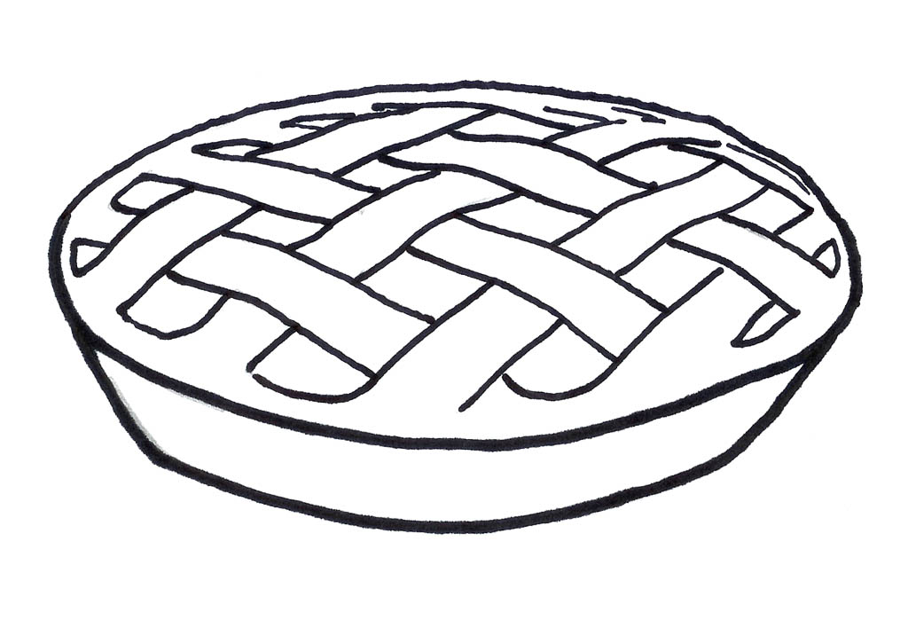 1024x708 Pie Coloring Pages