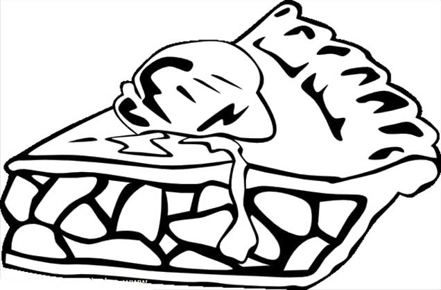 636x418 Pie Coloring Pages
