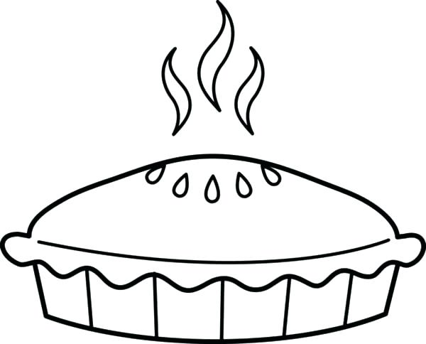 600x484 Pie Coloring Sheet Pie Coloring Page Just Baked Apple Pie Coloring