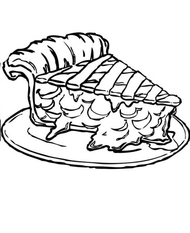 606x744 Piece Apple Pie Coloring Pages
