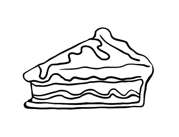 600x461 Thanksgiving Coloring Pages Pumpkin Pie Slice Apple Pie Coloring