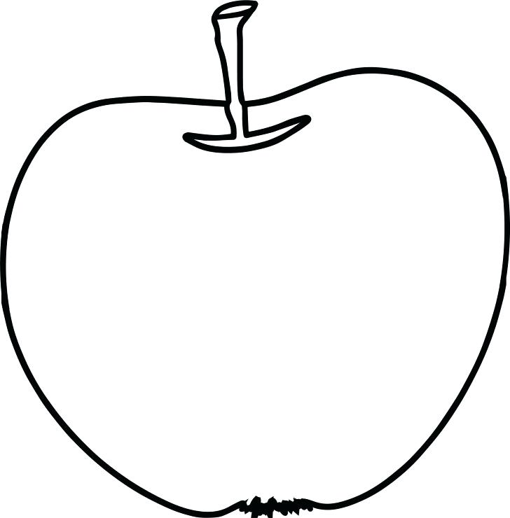 728x740 Apple Coloring Pictures Apple Coloring Pages With Worm A Apple Pie