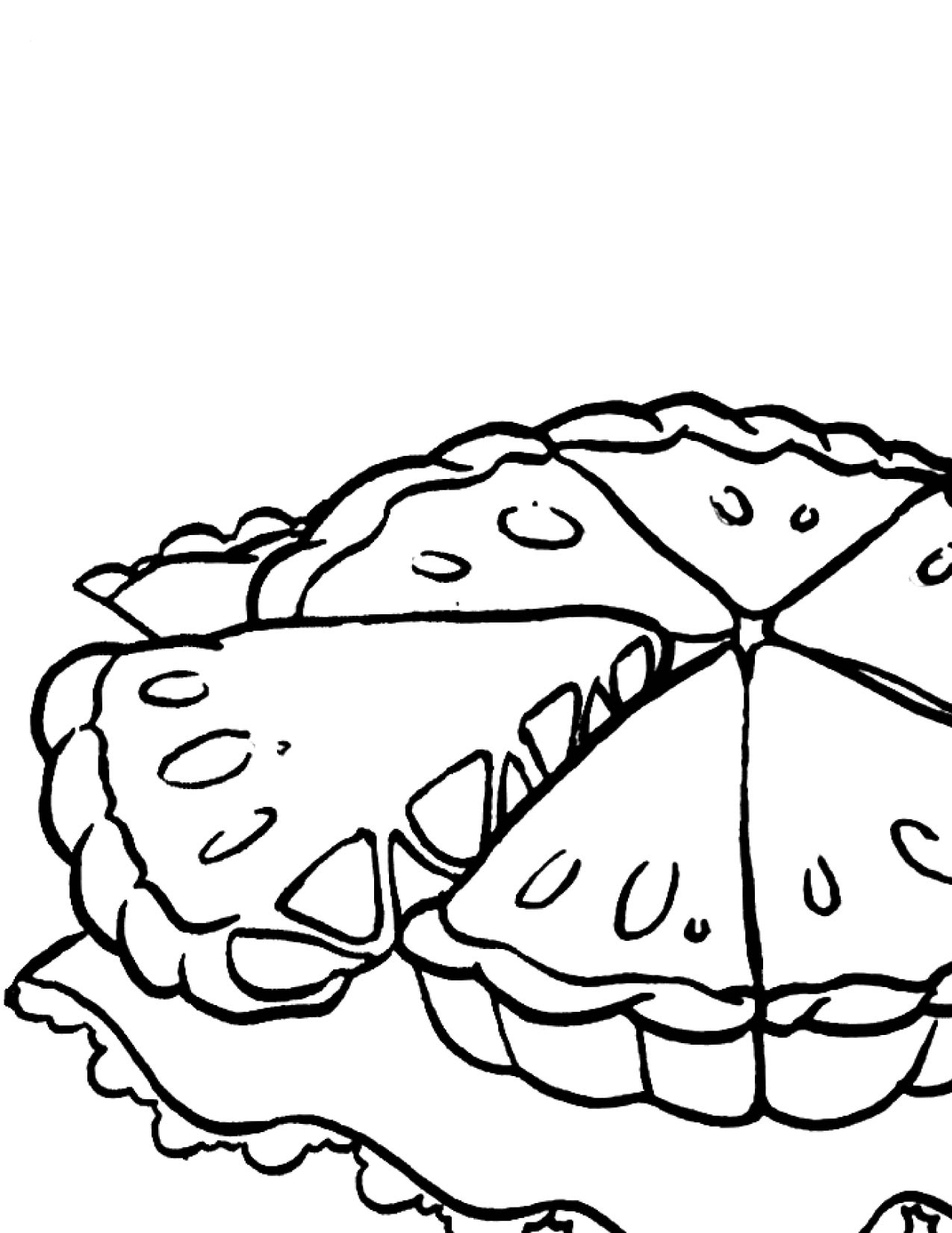 1275x1650 Apple Pie Coloring Page