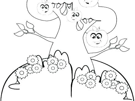440x330 Apple Tree Coloring Page Free Apple Coloring Pages Free Apple