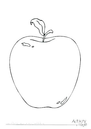 320x452 Coloring Page Of An Apple Full Size Of Activity Printable Fruit