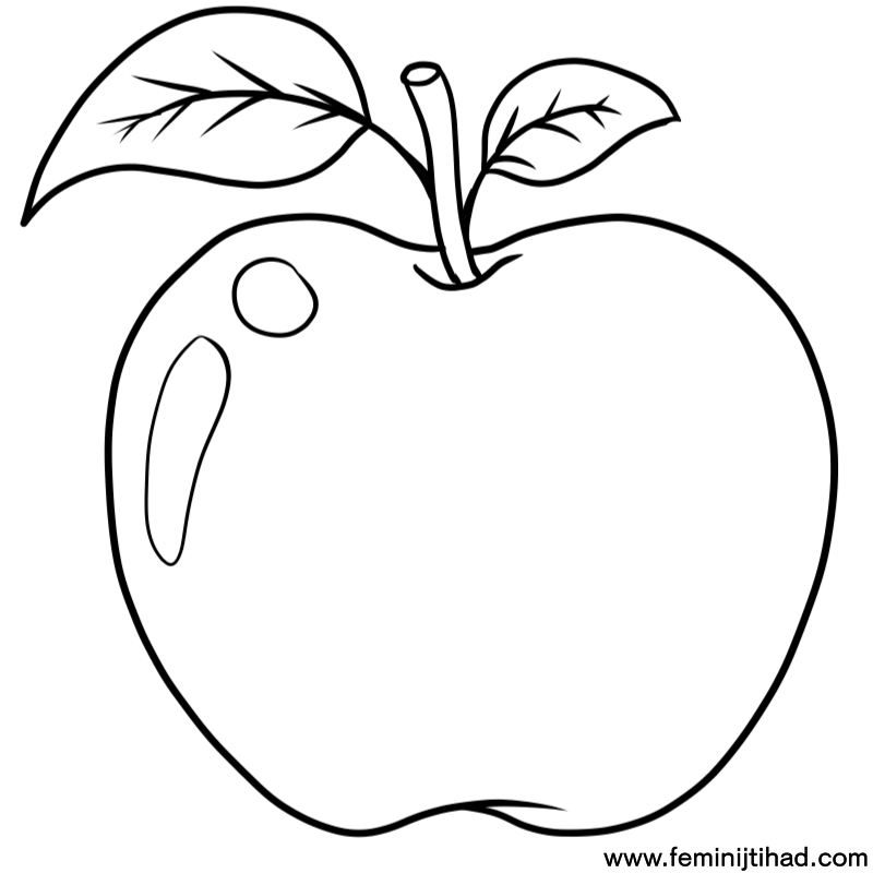 photograph about Apple Printable Coloring Pages named Apple Printable Coloring Webpages at  Totally free for