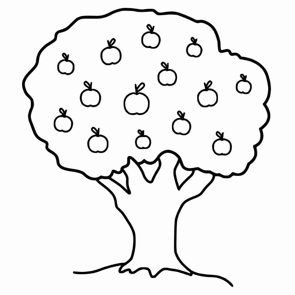 1024x1024 Fresh Apple Tree Coloring Page Pages Ebcs