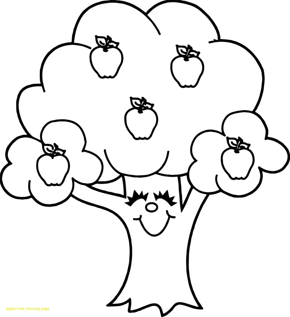 937x1024 Apple Tree Coloring Page