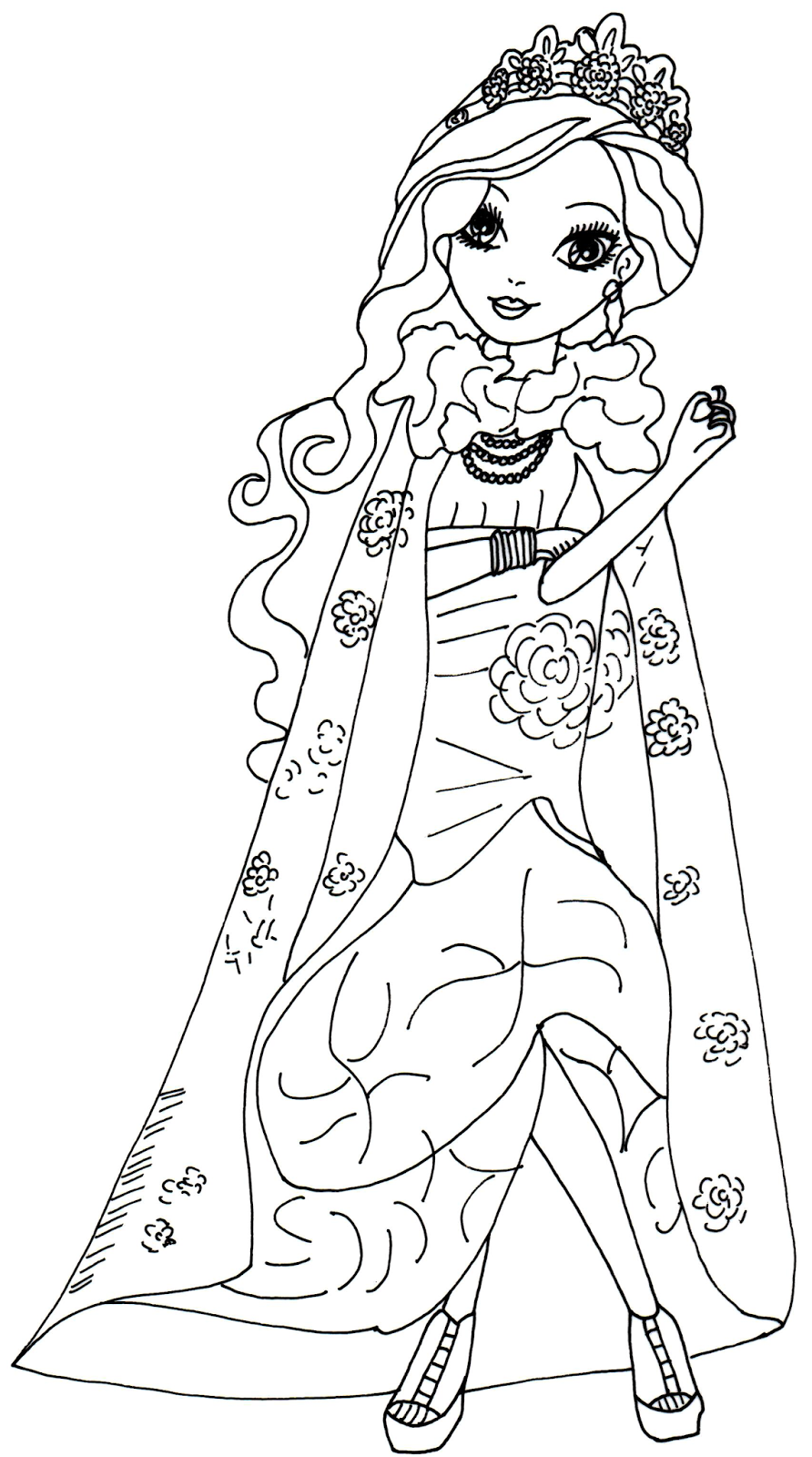 892x1600 Briar Beauty From Ever After High Coloring Sheets