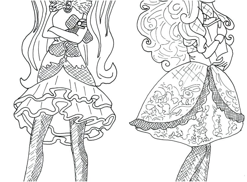 827x609 Cerise Coloring Pages Raven Queen And Apple White Ever After High