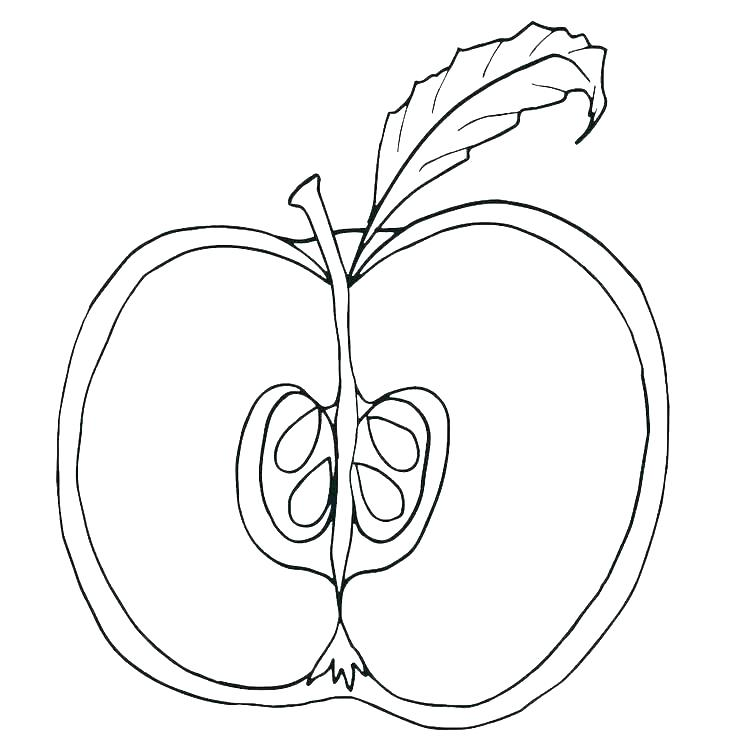 Apple White Coloring Pages At Getdrawings Com Free For Personal