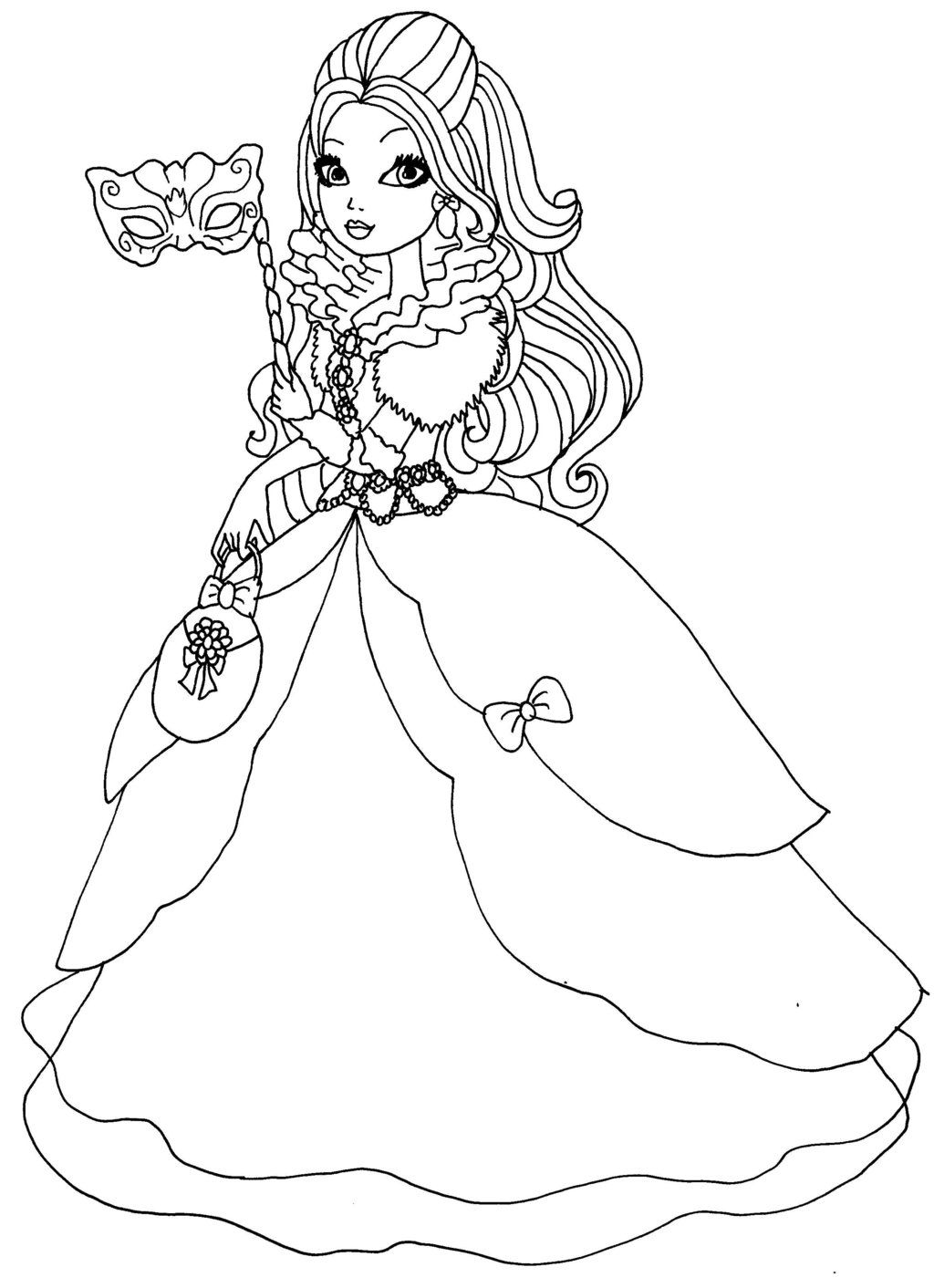 1024x1412 Ever After High Apple White Coloring Pages Apple White