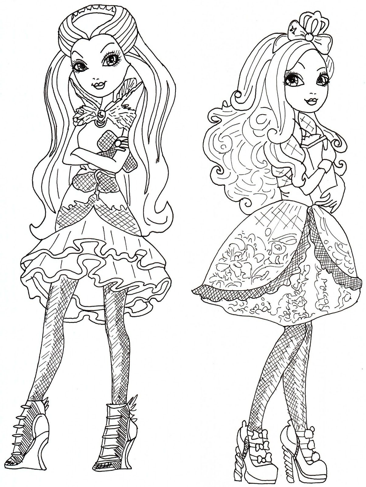 1203x1600 Ever After High Coloring Pages Raven Queen And Apple White