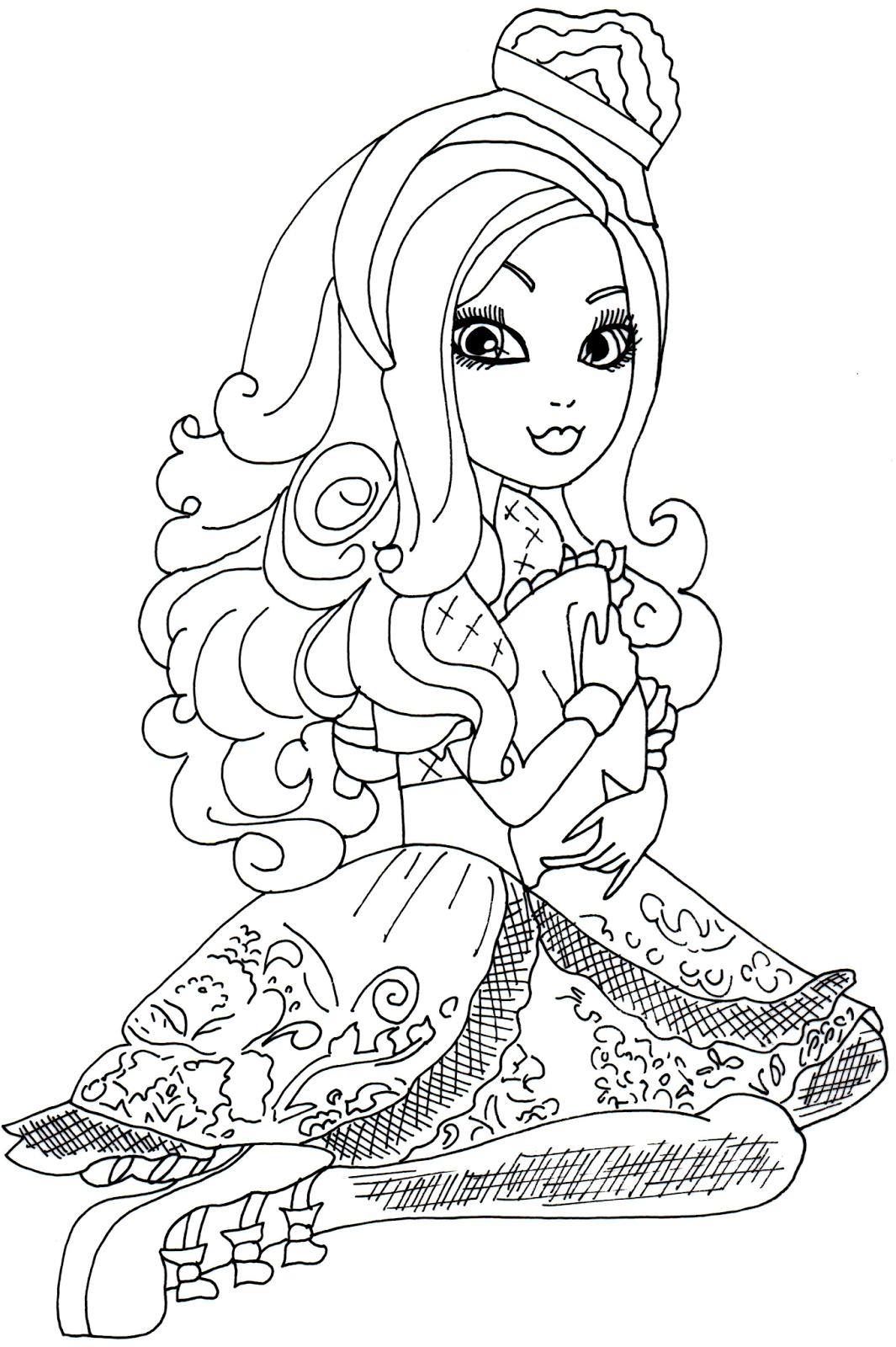 1065x1600 Free Printable Ever After High Coloring Pages