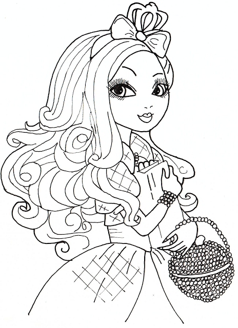 464x640 Free Printable Ever After High Coloring Pages Apple White Pages